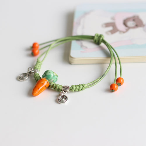 Ceramic Carrot Bracelet - Love of Rabbits