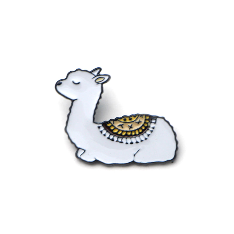 Meditating Alpaca - Badge