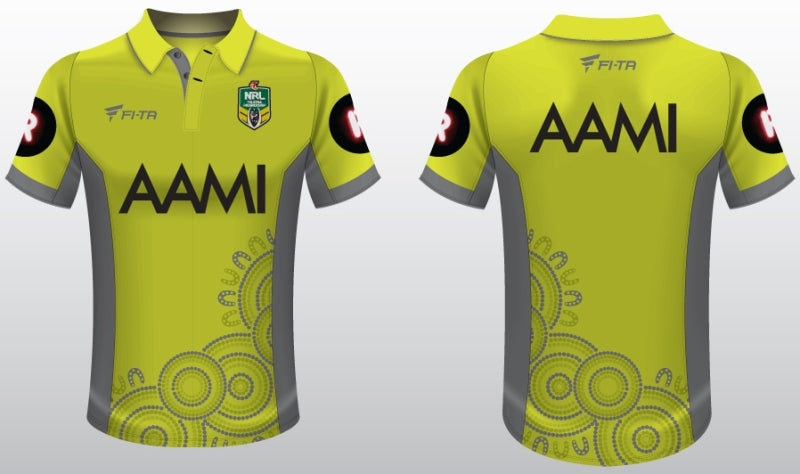 The Referee's wear Chern'ee's Artwork for NRL's Indigenous Round