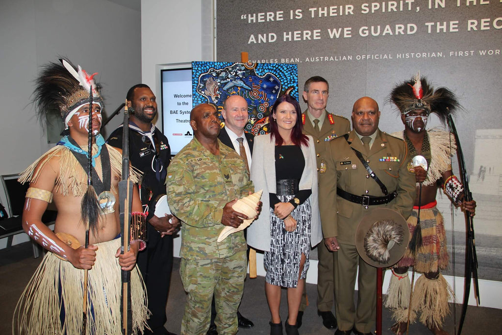 Australian Defence Force RAP Unveiled featuring Chern'ee's Artwork.