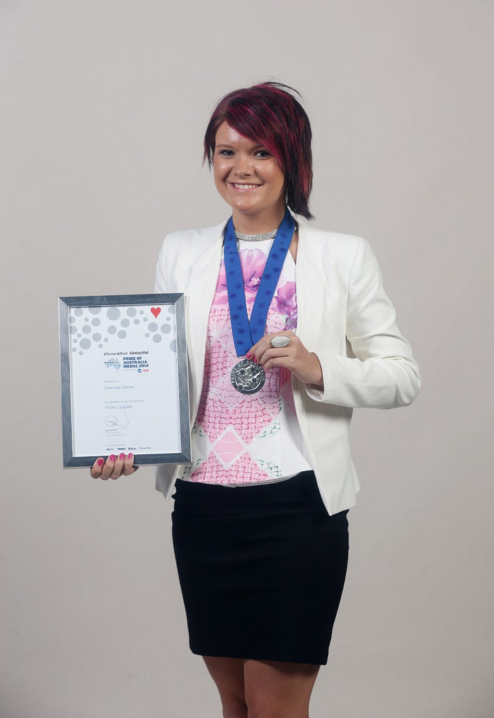Chern'ee Wins Queensland Pride of Australia Young Leader Medal