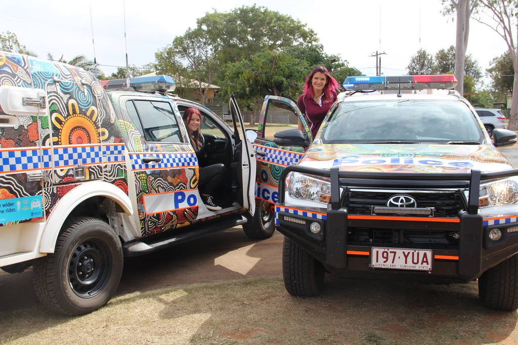 New police cars launched at Woorabinda by Chern'ee Sutton