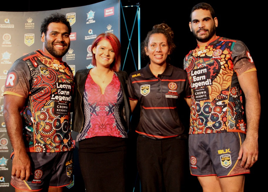Chern'ee Designs the 2016 NRL Indigenous All Stars Jersey