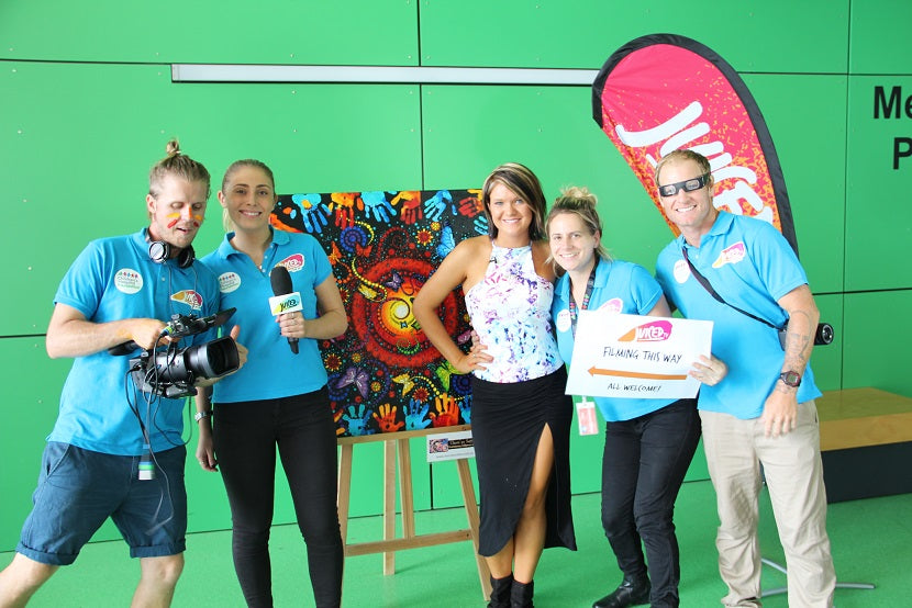 Chern'ee paints at The Queensland Childrens Hospital