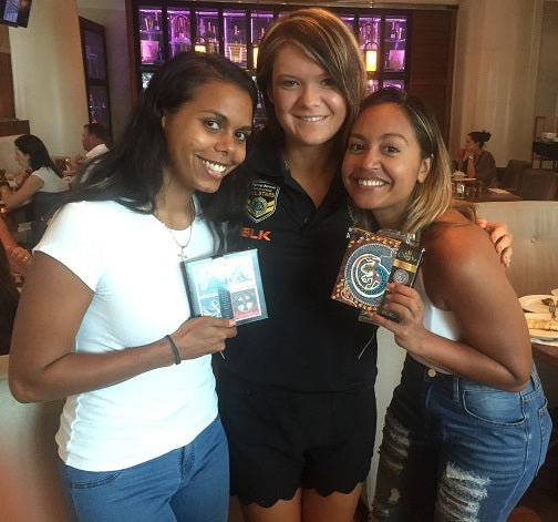 Jessica Mauboy and Elena Wangurra Sample Chern'ee's New Chocolate Range