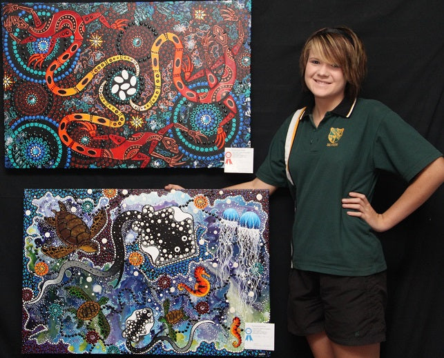 Chern'ee Wins 1st and Second Place in Art Competition