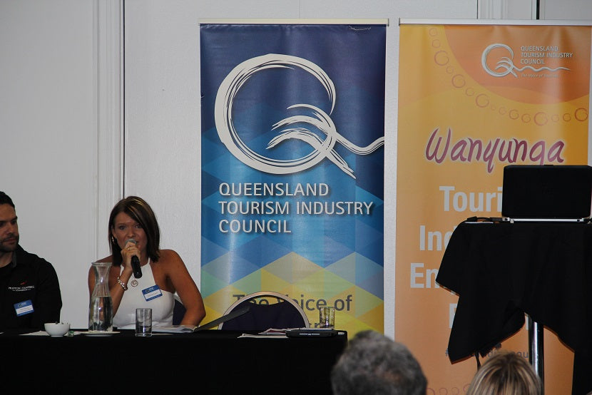 Chern'ee is a Key Note Speaker for the Queensland Tourism Industry Council