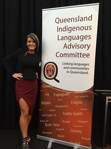 Chern'ee attends the Queensland Aboriginal Languages Forum