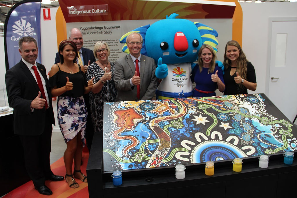 Chern'ee Attends the Opening of the Gold Coast Commonwealth Games Volunteer Selection Centre