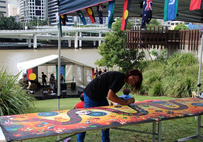 Artist in Residence at the Queensland State Library 2013