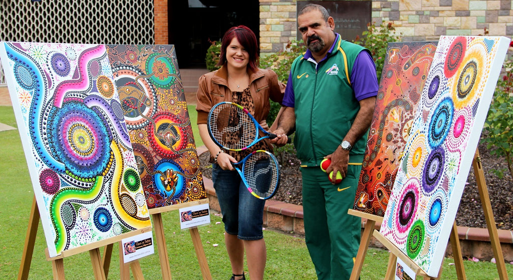 Commissioned paintings for Tennis Australia