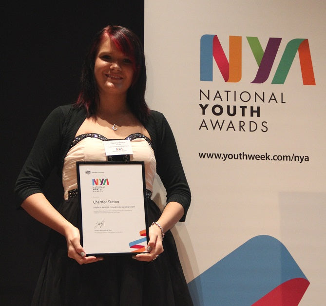 Chern'ee is a Finalist for the National Youth Awards 2014