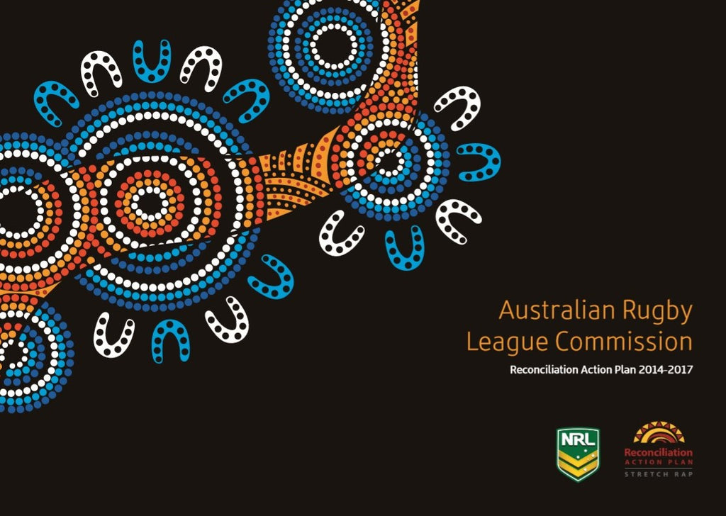 Chern'ee's Artwork used for Australian Rugby League Commissions Reconciliation Action Plan