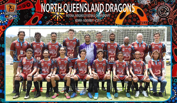 Chern'ee's Artwork Donated to the North Queensland Dragons in Mount Isa