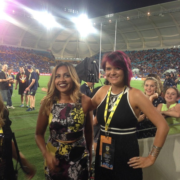Chern'ee Sutton and Jessica Mauboy Take Centre Field at the All Stars Game
