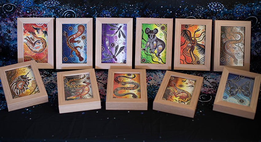 Mini Desktop Prints Featuring Original Aboriginal Art