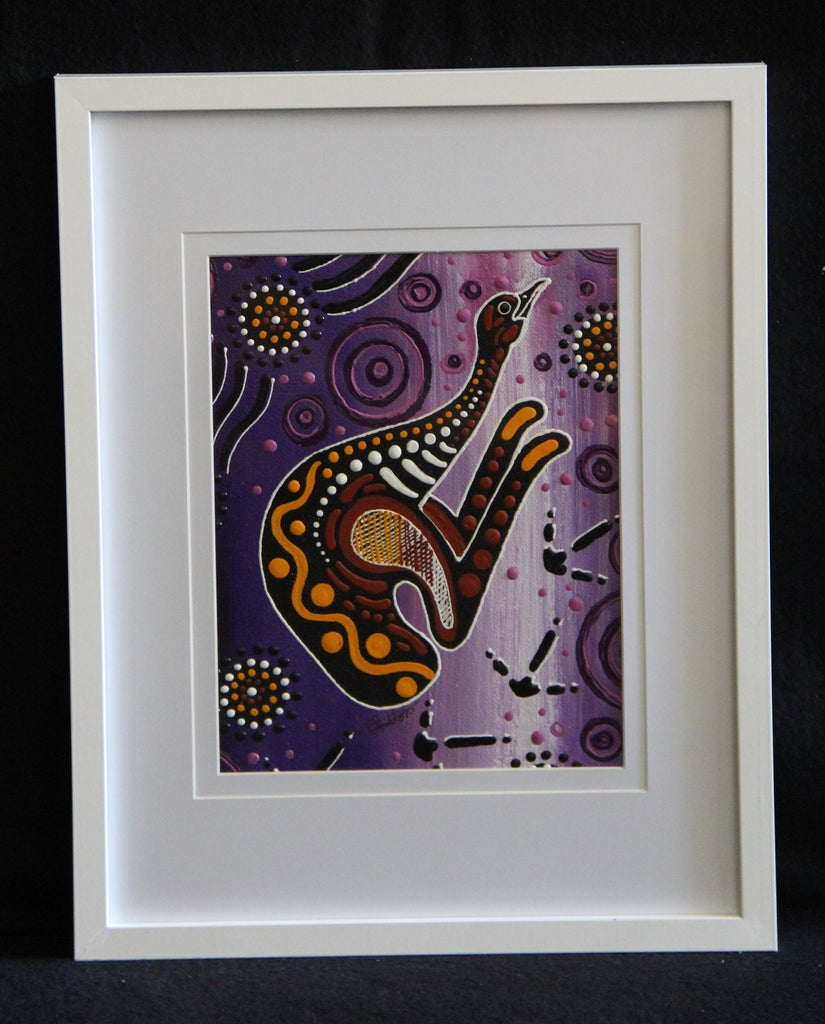 Framed Canvas - Utinat - Emu Framed Canvas Painting