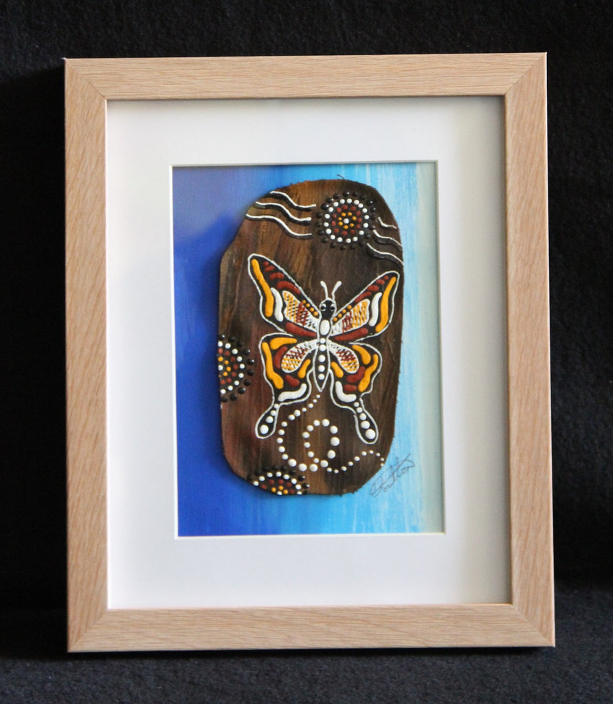 Framed Bark Canvas - Kali - Butterfly Framed Artwork