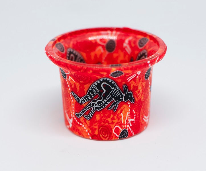 Small Red Kangaroo Tealight Holder