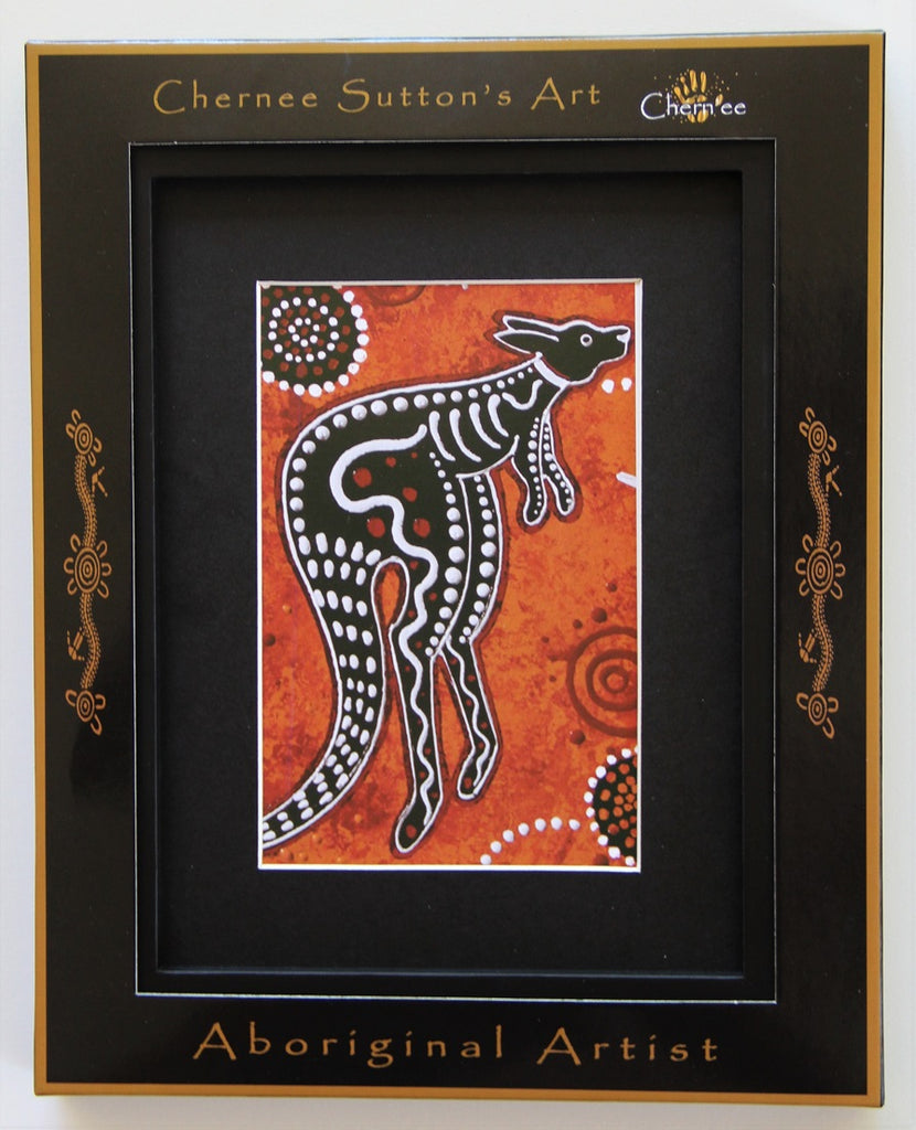 Kangaroo Dreaming Aboriginal Wall Art Print