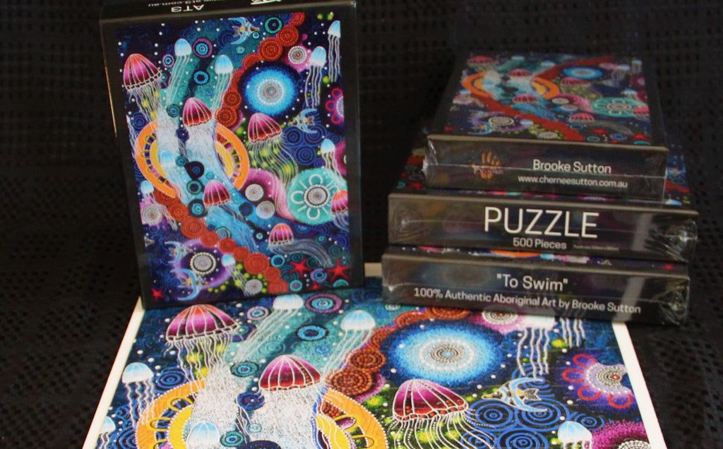 To Swim - Aboriginal Jigsaw Puzzle