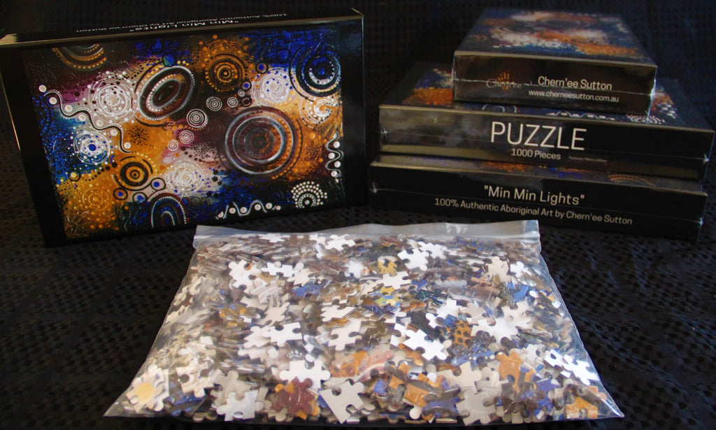 Min-Min Lights - Aboriginal Jigsaw Puzzle