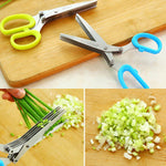 Stainless Steel 5 Blade Vegetable Shredding Scissors