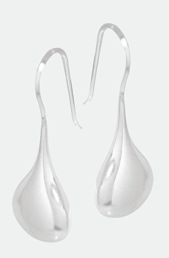 Sterling Silver teardrop fixed hook earring