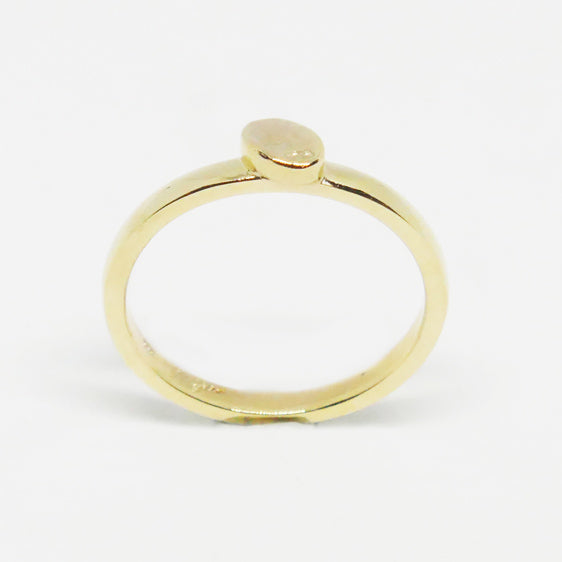9ct gold textured oval stacker ring also available in Sterling Silver