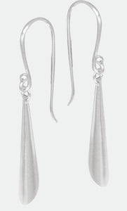 Sterling Silver tapered drop cone earrings