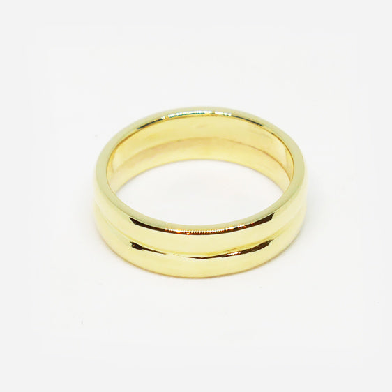 9ct gold double band ring