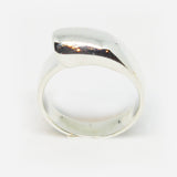 Sterling silver half bar ring