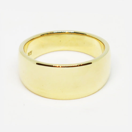 9ct tapered plain ring