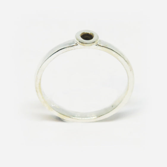 Sterling Silver oxidised donut stacker ring