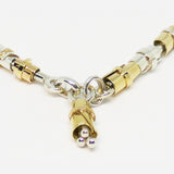 Handmade Sterling Silver and 9ct gold necklace