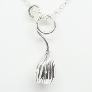 'Emily' Stg silver medium curly pendant (Chain sold separately)