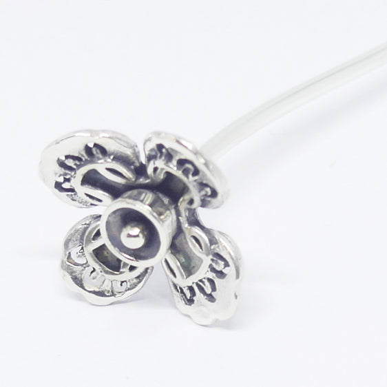 'Pippy' Stg silver flower stick