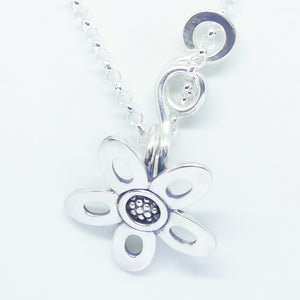 'Diana' Sterling Silver medium curly pendant (chain not included)