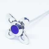 'Judy' Stem Sterling Silver and Blue resin