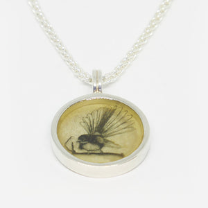 Sterling silver & resin fantail pendant (chain sold separately)