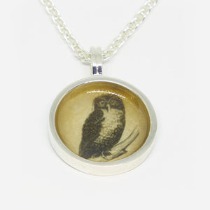 Sterling Silver & resin Owl pendant (chain sold separately)