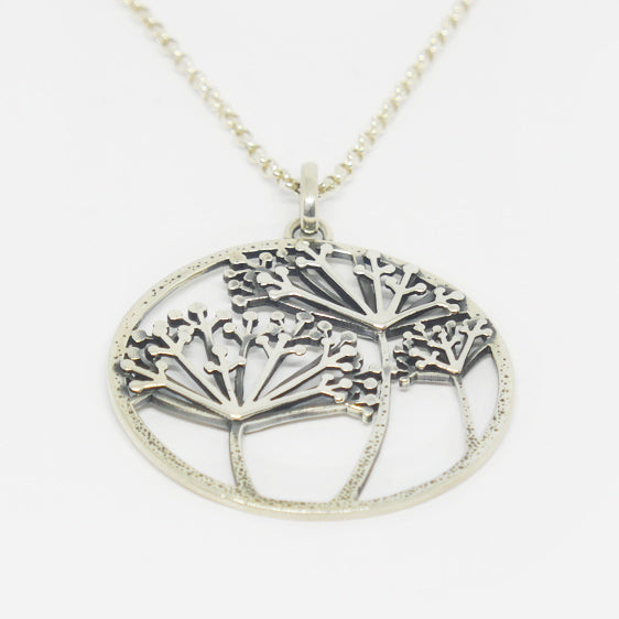 Sterling silver dandelion pendant (chain sold separately)