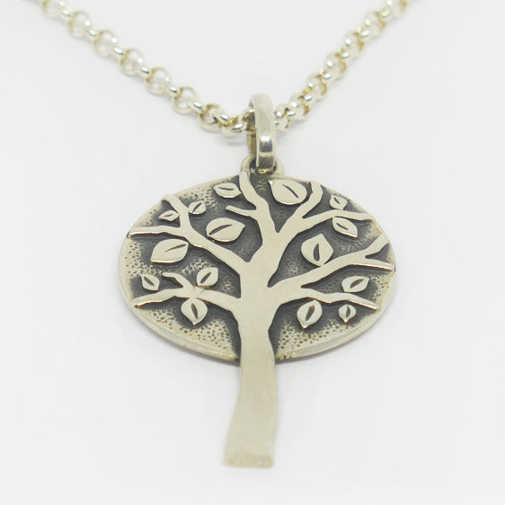Sterling silver leafy tree pendant (chain sold separately)