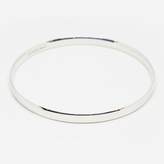 Solid Sterling Silver comfort curve bangle (in 4 sizes)