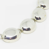 Sterling Silver large oval bubble link necklace