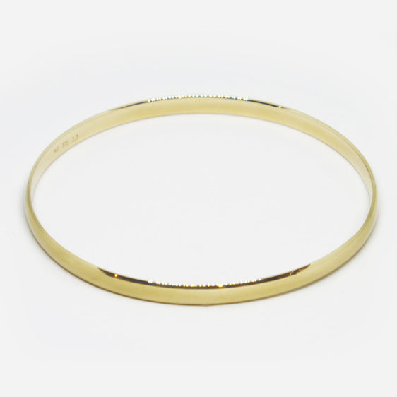 9ct yellow gold solid comfort curve bangle