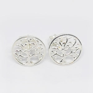 Small tree of life studs sterling silver