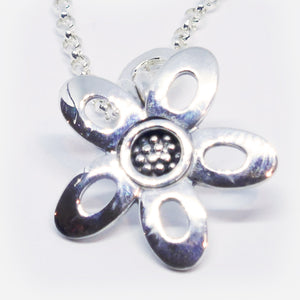 """Diana"" sterling silver medium curly pendant. ( Chain sold separately)"