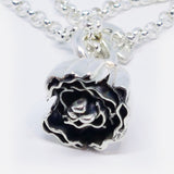 """Vivee"", sterling silver medium curl pendant (Chain sold separately)"