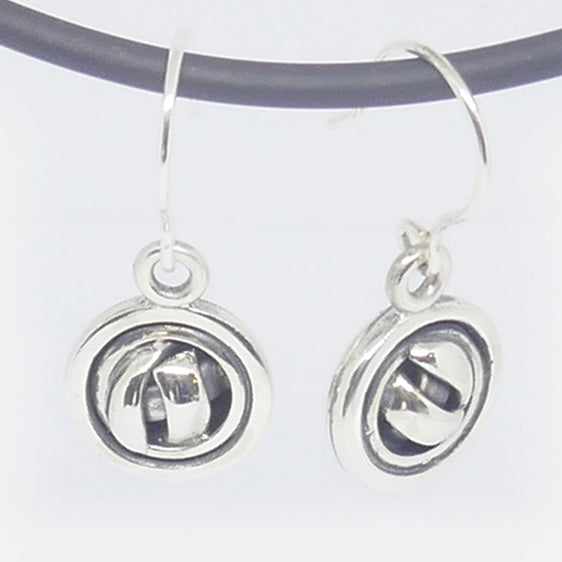 Sterling Silver half knot with domed back drop earrings